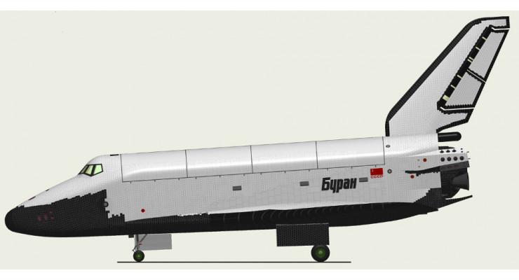 """Модель космического корабля """"Буран"""" 1:500"""