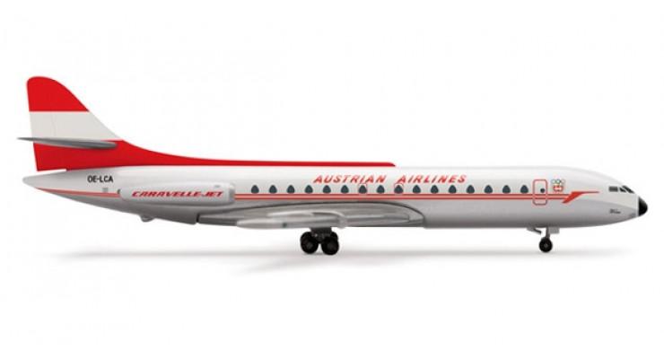 Модель самолета Aerospatiale Caravelle Austrian Airlines 1:500 505017