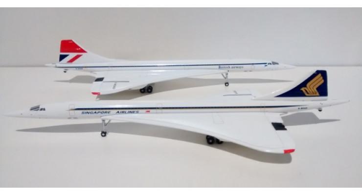 Модель самолета Aerospatiale / British Aerospace Concorde British Airways / Singapore Airlines 1:400
