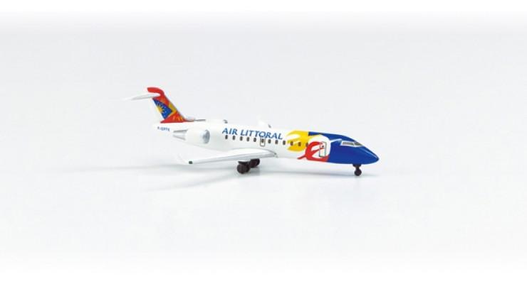 Модель самолета Bombardier CRJ200 Air Littoral 1:500 513234