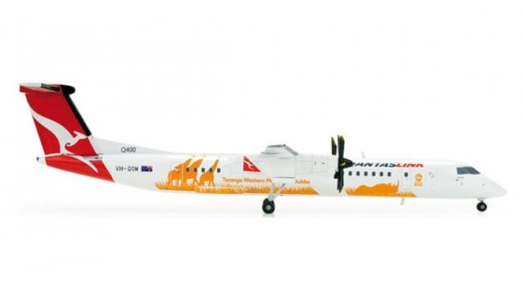 """Модель самолета Bombardier Q400 QantasLink """"Taronga Zoo"""" 1:500 520775"""