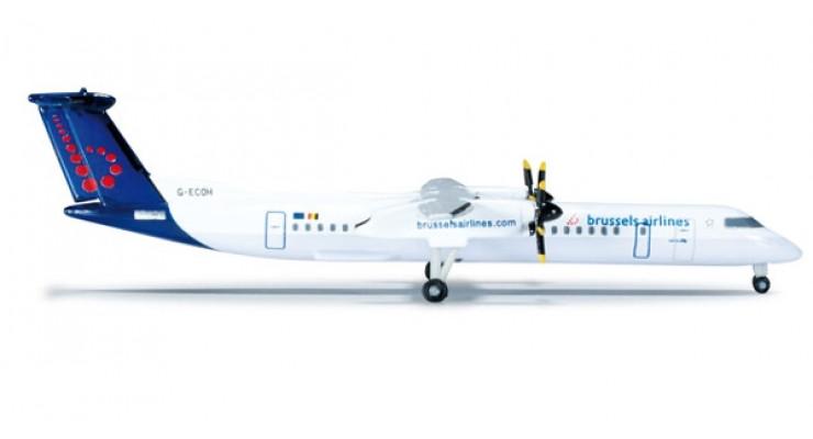 Модель самолета Bombardier Q400 Brussels Airlines 1:500 523301