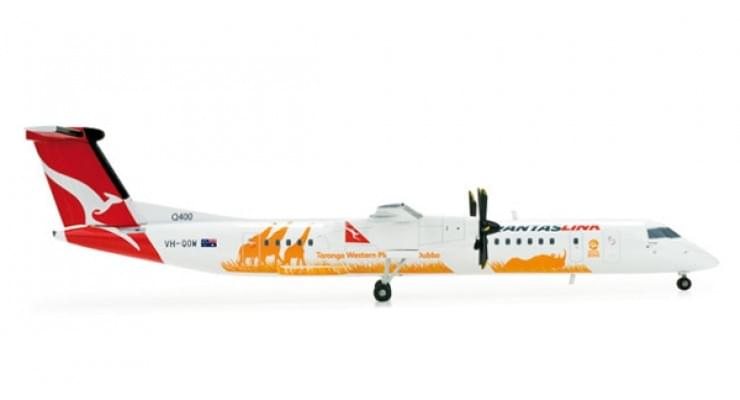 "Модель самолета Bombardier Q400 QantasLink ""Taronga Western Plain Zoo"" 1:200"