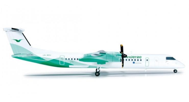 Модель самолета Bombardier Q400 Wideroe 1:200