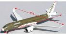 Модель самолета Bombardier CS100 FTV2 1:400