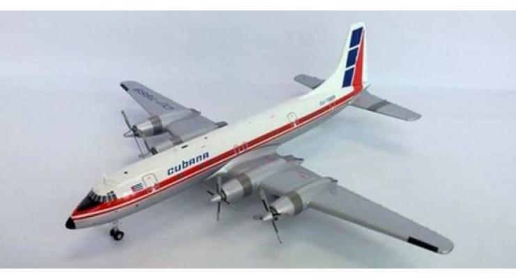Модель самолета Bristol 175 Britannia Cubana de Aviacion 1:200