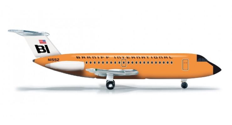 Модель самолета British Aircraft Corporation 1-11-200 Braniff International 1:500 523677