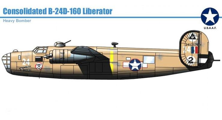 Модель самолета Consolidated B-24D Liberator USAF 1:72