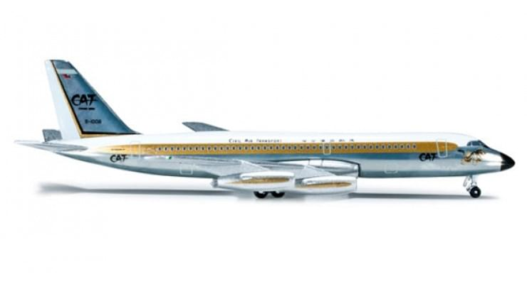"Модель самолета Convair CV-880 Civil Air Transport ""Mandarin Jet"" 1:500 523141"