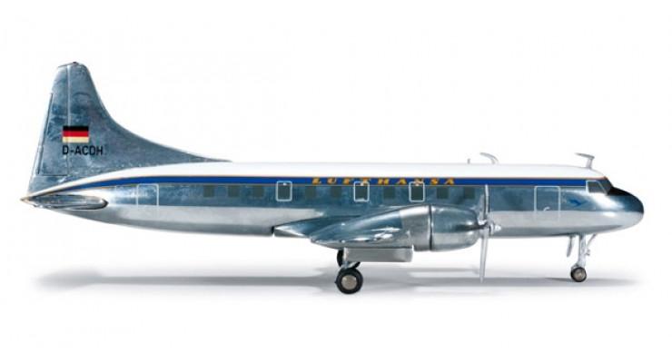 Модель самолета Convair CV-340 Lufthansa 1:200