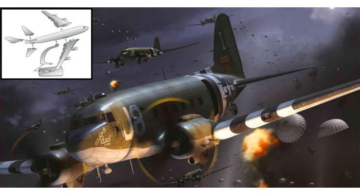 """Модель самолета Douglas C-47A USAAF """"Operation Neptune"""" 1:100"""