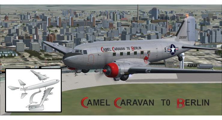 """Модель самолета Douglas C-47 USAAF """"Camel Caravan to Berlin"""" 1:100"""