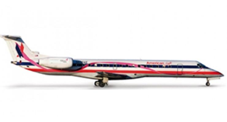 """Модель самолета Embraer ERJ-145 American Eagle """"Susan G. Komen"""" 1:500 517317"""