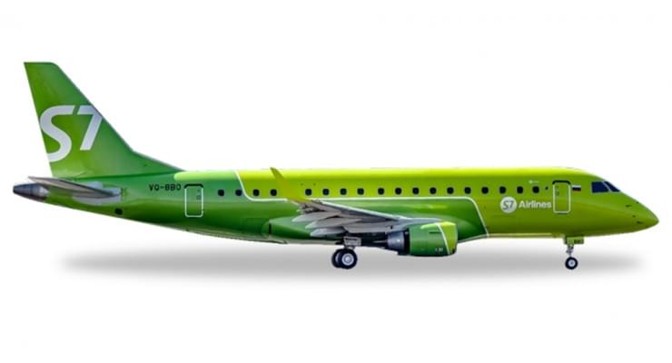 Модель самолета Embraer ERJ-170 S7 Airlines 1:100