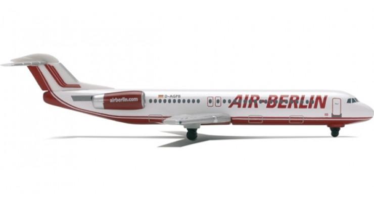 Модель самолета Fokker 100 Air Berlin 1:500 509350