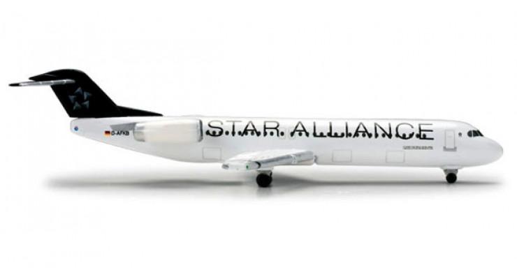 "Модель самолета Fokker 100 Contact Air ""Star Alliance"" 1:500 518376"