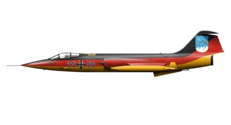 Модель самолета Lockheed F-104G Starfighter Luftwaffe 1:200