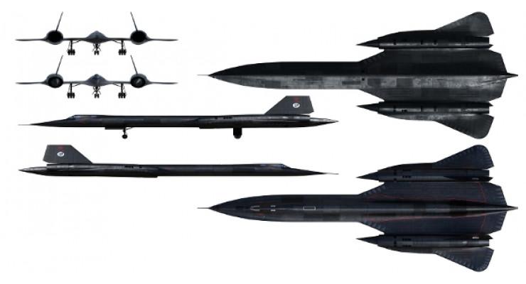 Модель самолета Lockheed SR-71A Blackbird 1:72