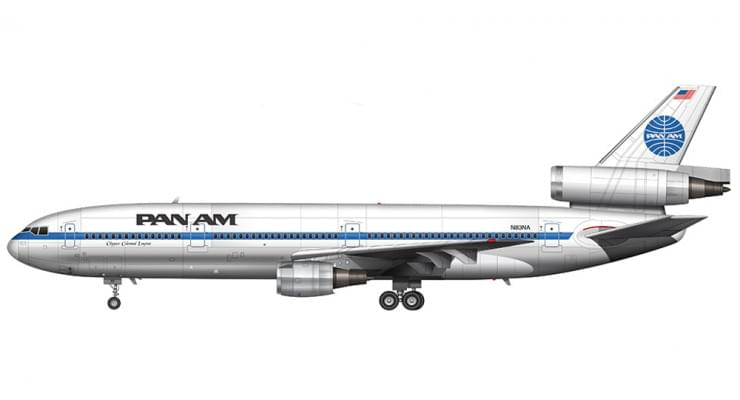 Модель самолета Lockheed L-1011-500 TriStar Pan American 1:400