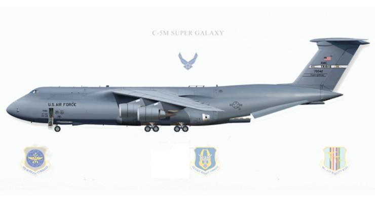 Модель самолета Lockheed C-5 Galaxy USAF 1:400