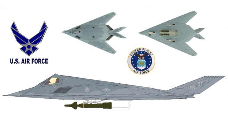 Модель самолета Lockheed F-117A Nighthawk 1:72 HA5804