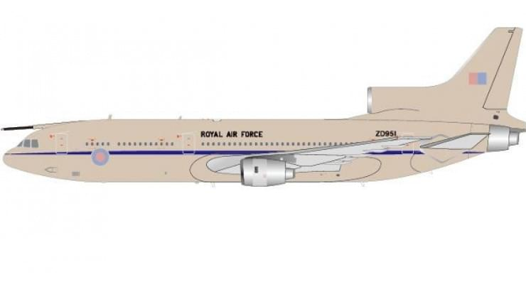 Модель самолета Lockheed L-1011-500 TriStar Royal Air Force 1:200