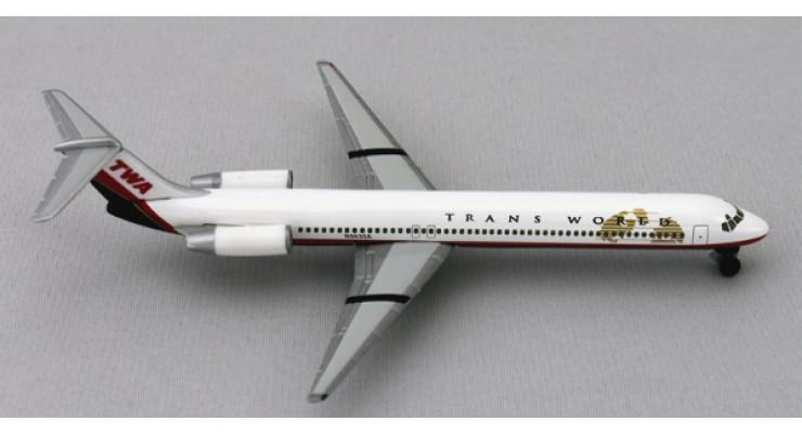 Модель самолета McDonnell Douglas MD-83 Trans World Airlines 1:500