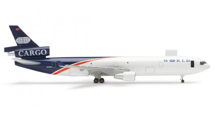 Модель самолета McDonnell Douglas MD-11F World Airways 1:500 507660