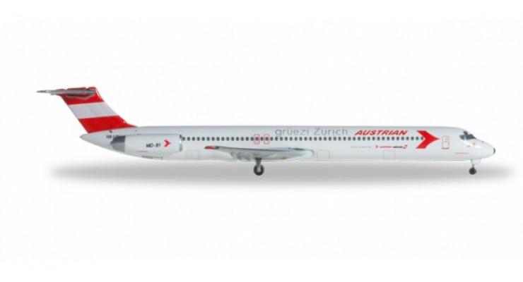 "Модель самолета McDonnell Douglas MD-81 Austrian Airlines ""Gr?ezi Z?rich"" 1:500 526951"