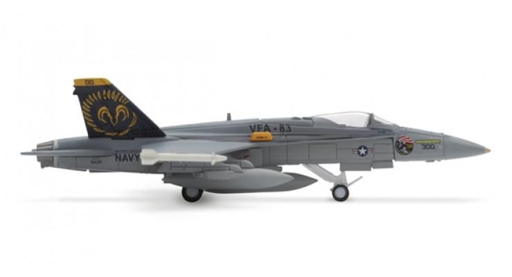 "Модель самолета McDonnell Douglas F/A-18C Hornet US Navy ""Rampagers"" 1:200"
