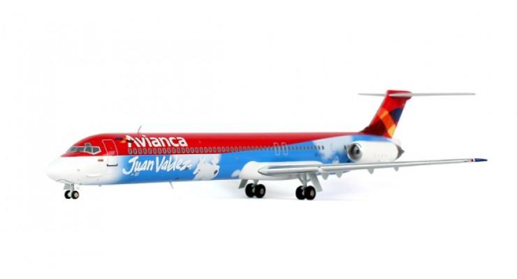 """Модель самолета McDonnell Douglas MD-83 Avianca """"Juan Valdez"""" 1:200"""