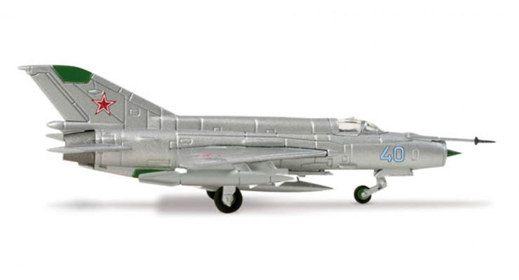 Модель самолета Микоян Гуревич Миг-21БИС ВВС СССР 1:200