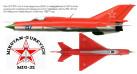Модель самолета Миг-21ПМФ ВВС СССР 1:72