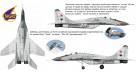 Модель самолета Микоян Гуревич Миг-29 ВВС СССР 1:100