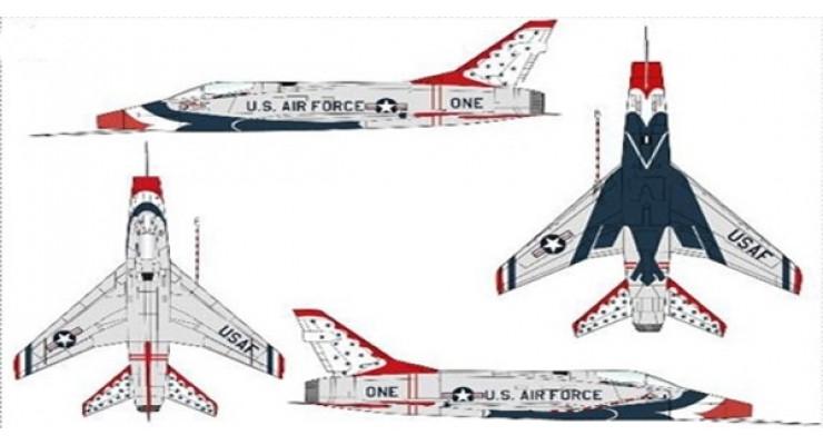 "Модель самолета North American Aviation F-100D Super Sabre USAF ""Thunderbirds"" 1:72"