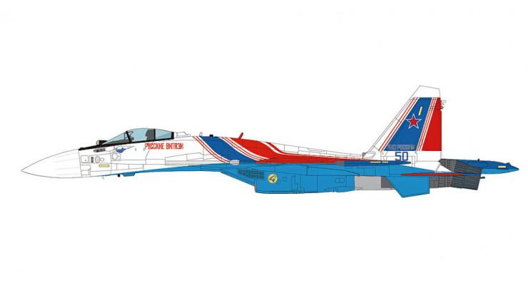 """Модель самолета Сухой Су-35С ВВС России """"Русские Витязи"""" 1:72"""