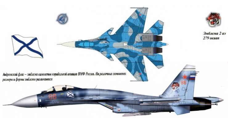 Модель самолета Сухой Су-33 ВМФ России 1:72
