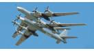"""Модель самолета Туполев Ту-95МС Медведь """"Иркутск"""" ВВС России 1:200"""