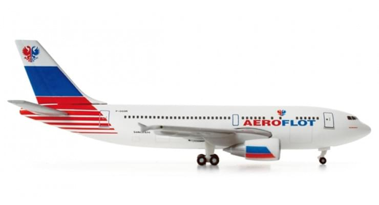 """Модель самолета Airbus A310-300 Аэрофлот """"Тестовая ливрея"""" 1:500"""