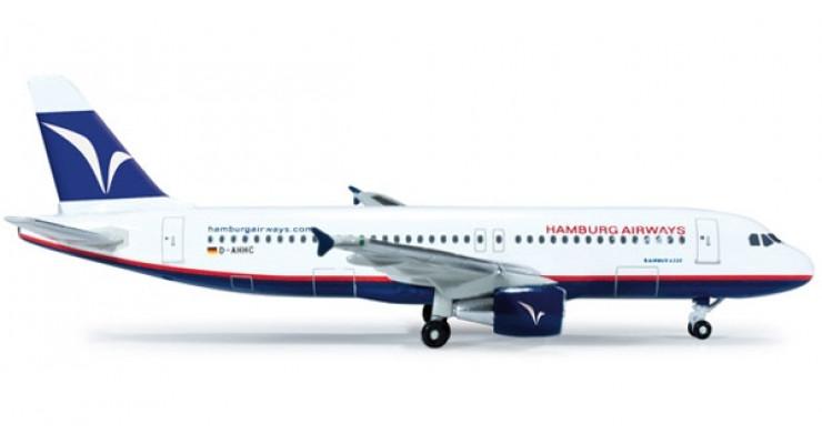 Модель самолета Airbus A320 Hamburg Airways 1:500 518932