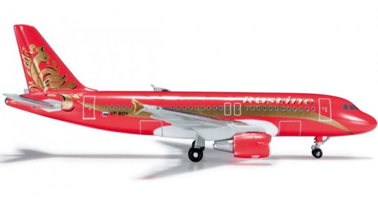 Модель самолета Airbus A319 RusLine 1:500