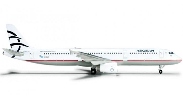 Модель самолета Airbus A321 Aegean Airlines 1:500 524476