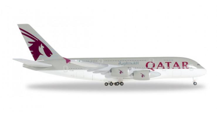 Модель самолета Airbus A380 Qatar Airways 1:500