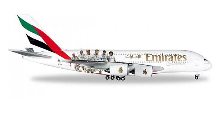 "Модель самолета Airbus A380 Emirates ""Real Madrid"" 1:500"