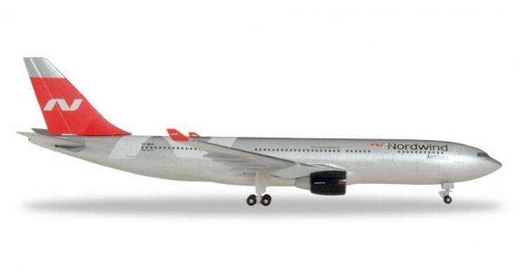 Модель самолета Airbus A330-200 Nordwind Airlines 1:500