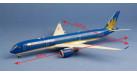Модель самолета Airbus A350XWB Vietnam Airlines 1:200