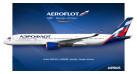 Модель самолета Airbus A350-900 Аэрофлот 1:200