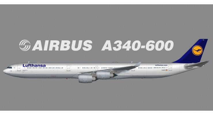Модель самолета Airbus A340-600 Lufthansa 1:250
