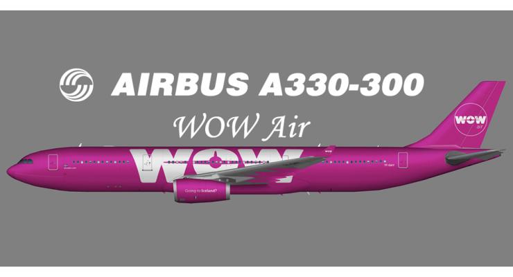 Модель самолета Airbus A330-300 WOW air 1:200
