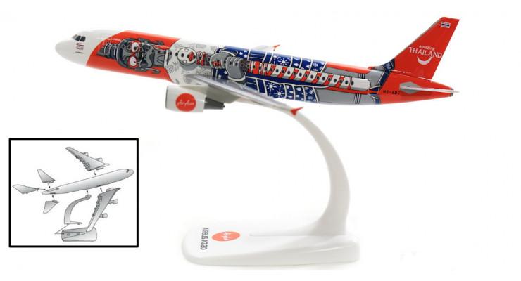 "Модель самолета Airbus A320 Thai Air Asia "" Amazing Thailand "" 1:200"